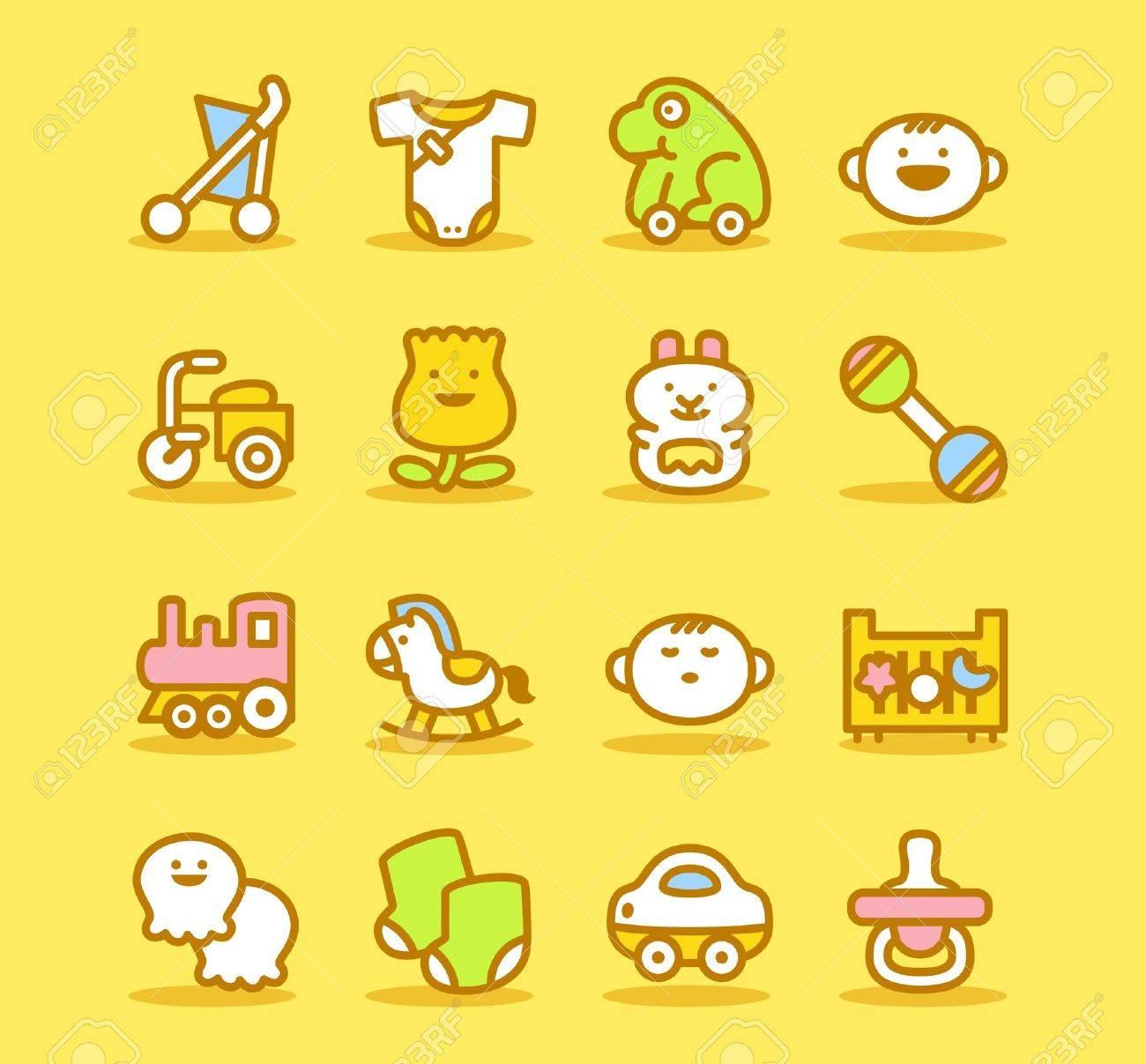 Baby icon set - 10624645