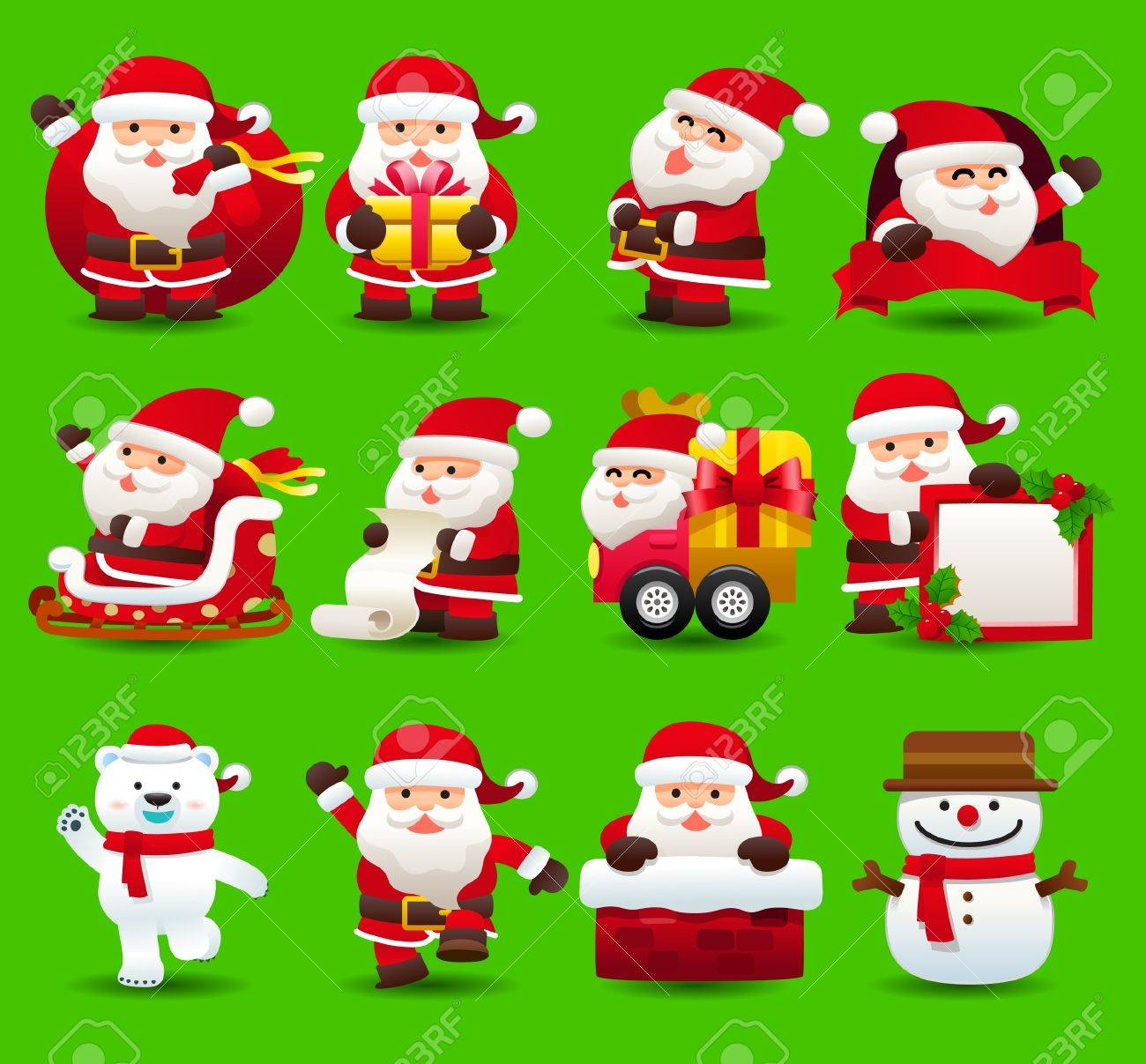 christmas,santa clause,xmas icon set Stock Vector - 10777813
