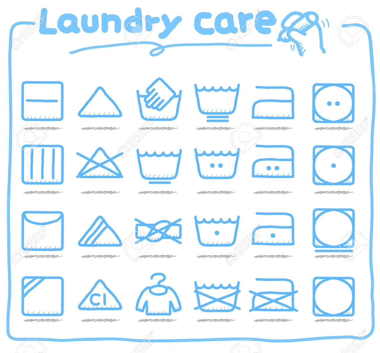 Cute hand drawn series stock photos by min6939 at 123 royalty free hand drawn laundry care washing symbols biocorpaavc