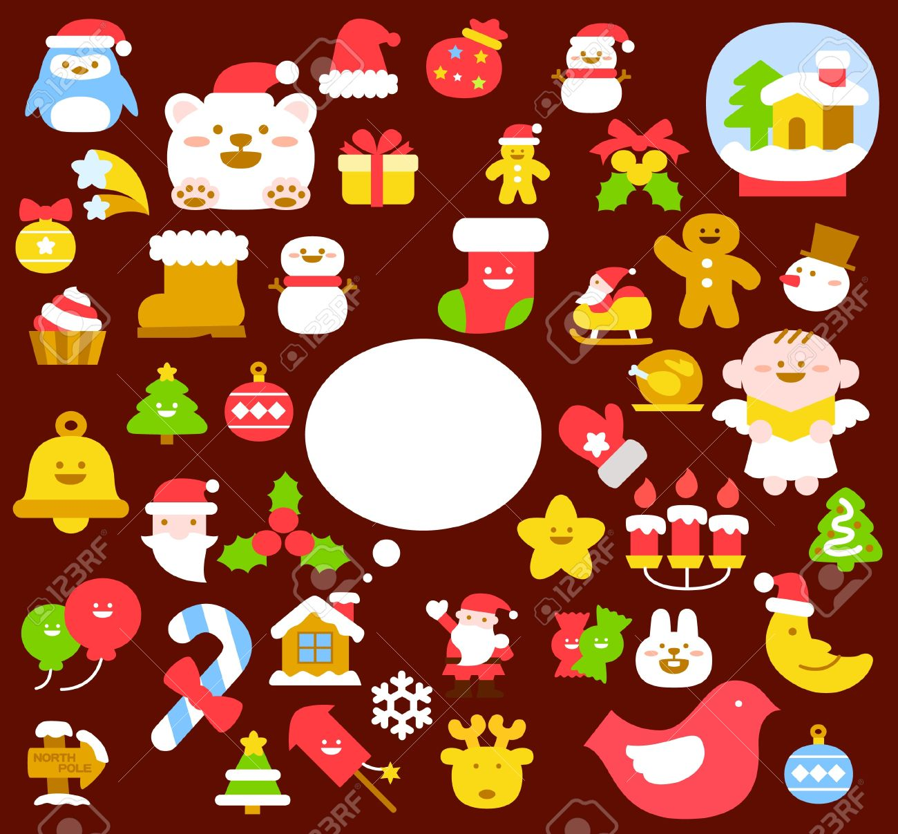 Vector illustration - set of christmas icons Stock Vector - 11110873