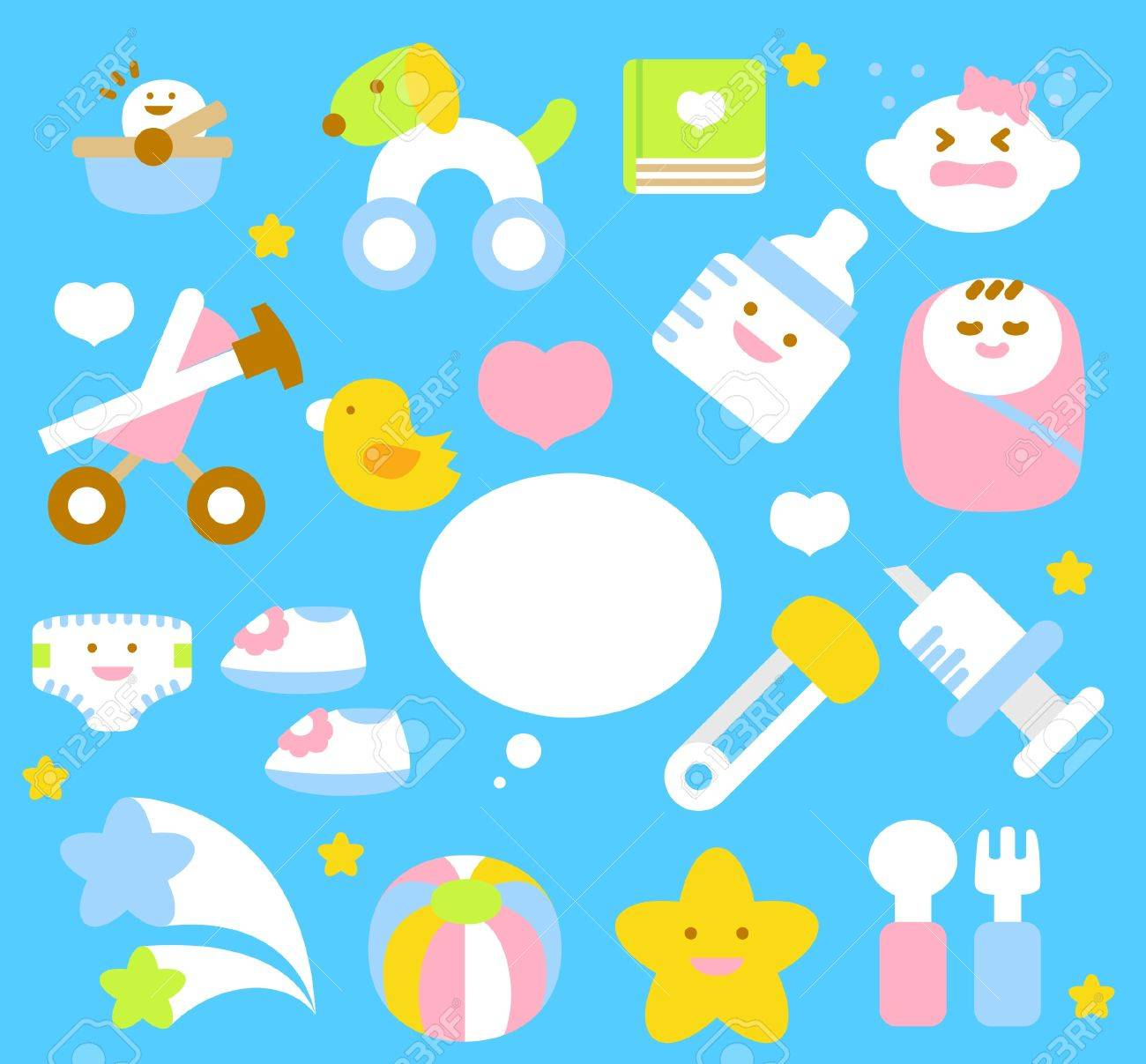 simple baby icon collection Stock Vector - 11181152