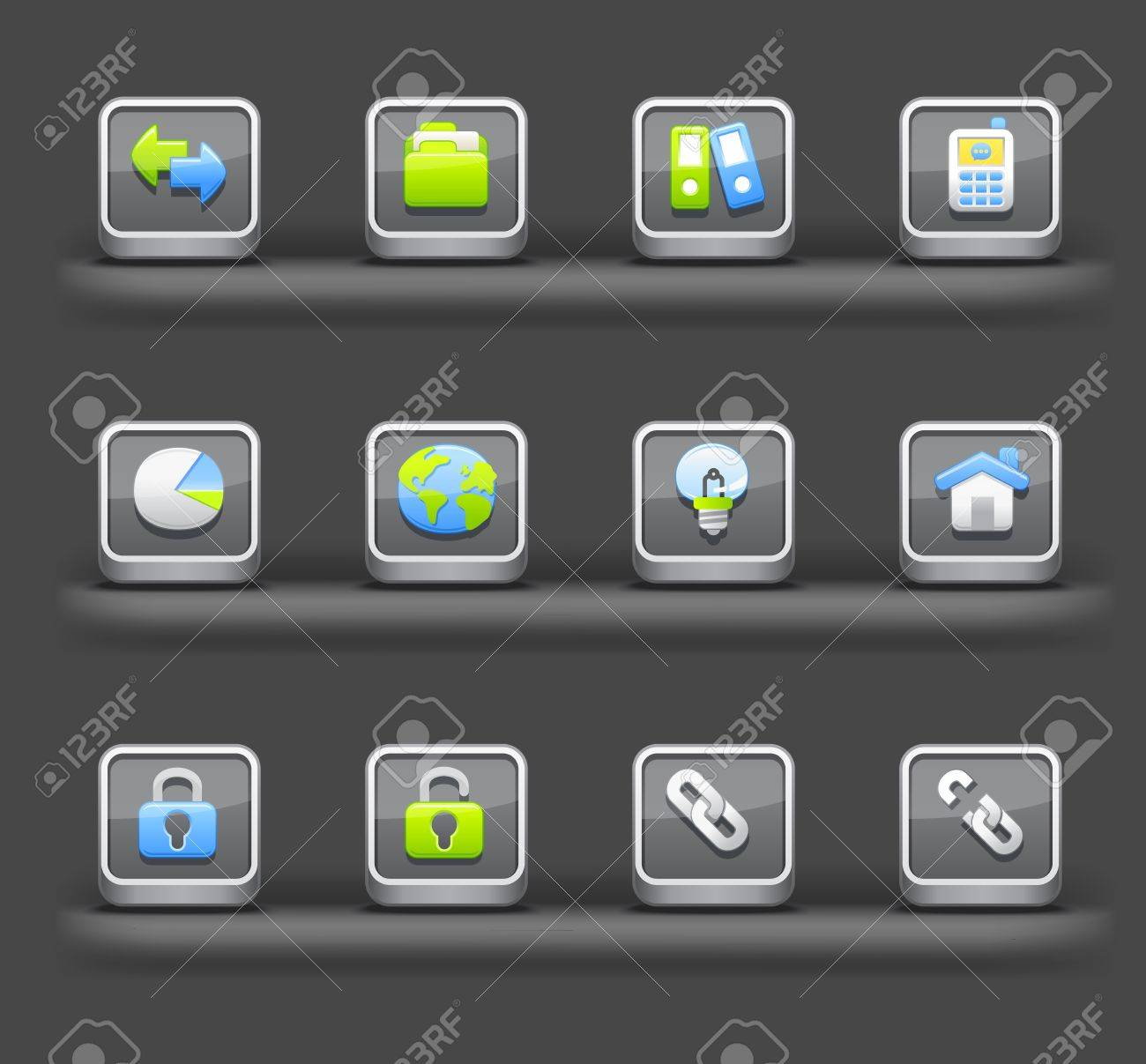 Business & Internet | Mobile devices apps icons Stock Vector - 11810246