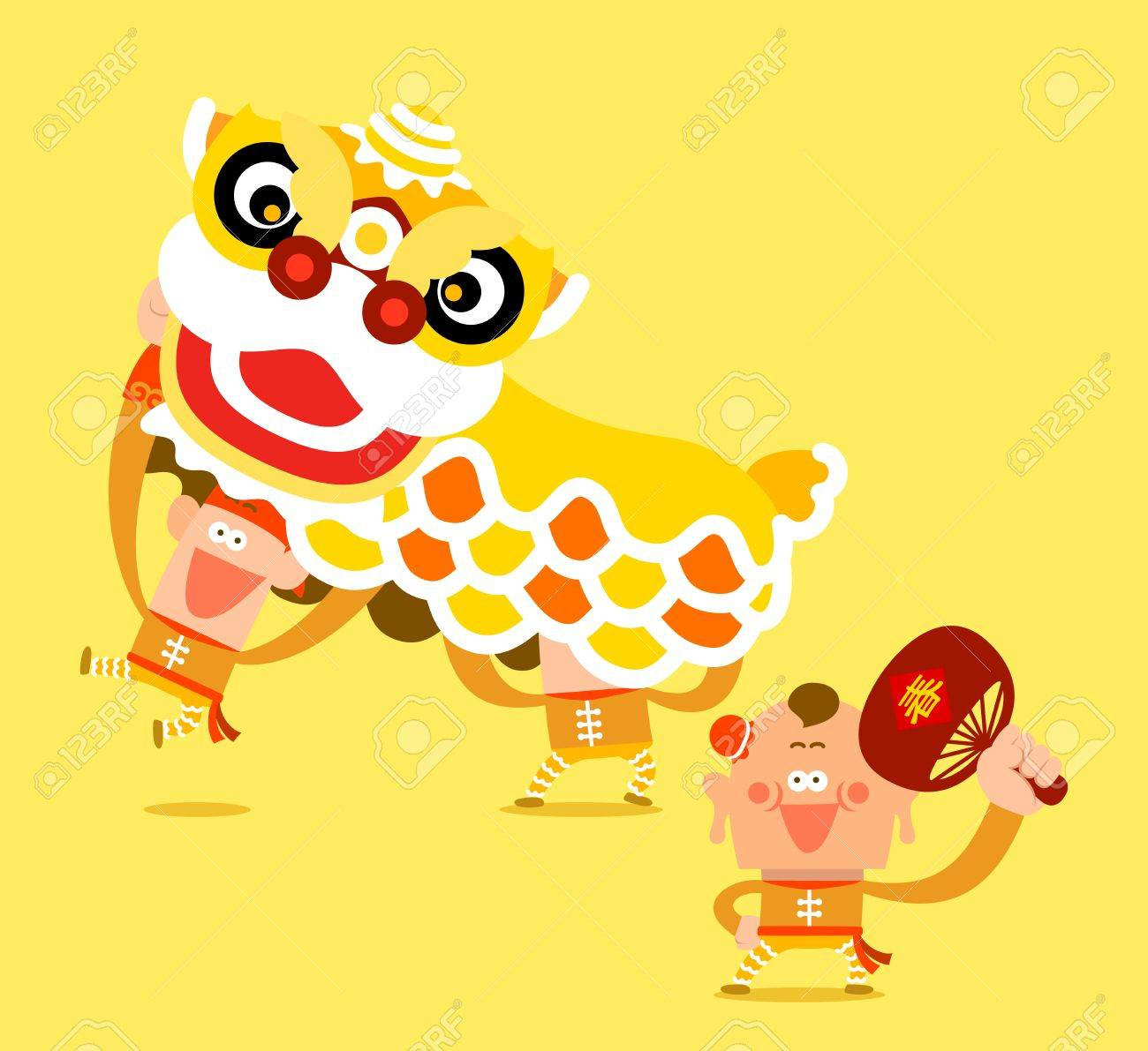 Chinese new year celebration and Lion Dance Stock Vector - 11810256