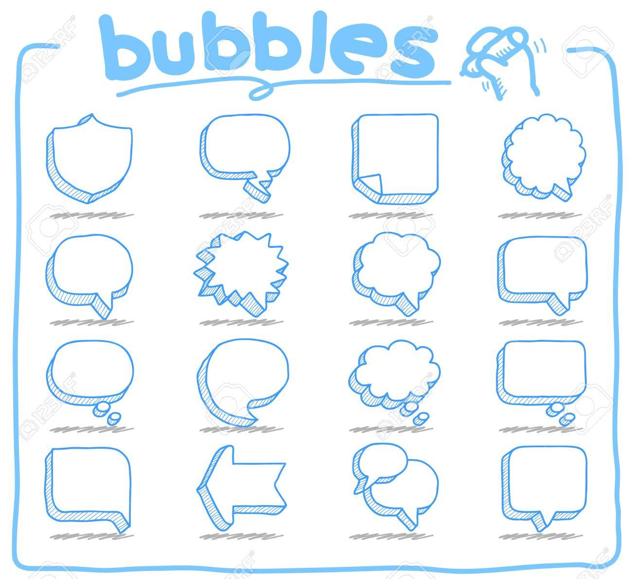 Speech And Thought Bubbles Stock Vector - 11810266