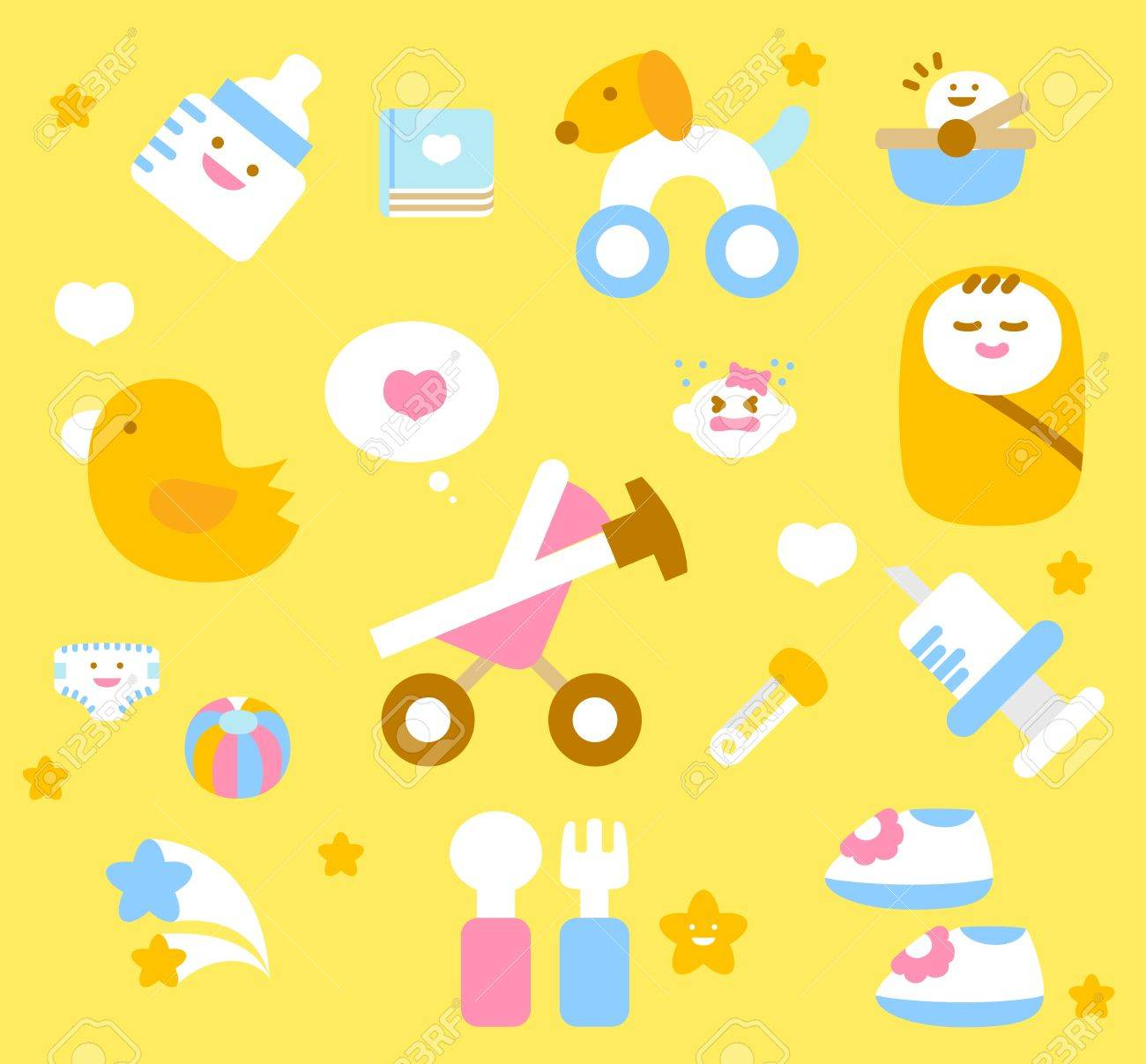 simple baby icon collection - 11904241