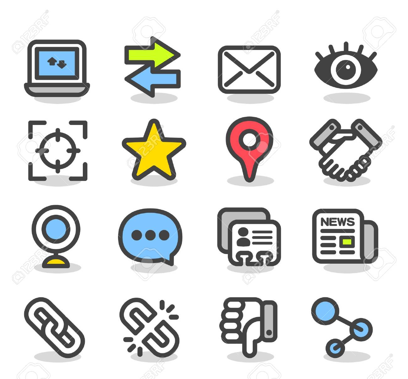 Simple Series   Social ,Network icon set Stock Vector - 13310262