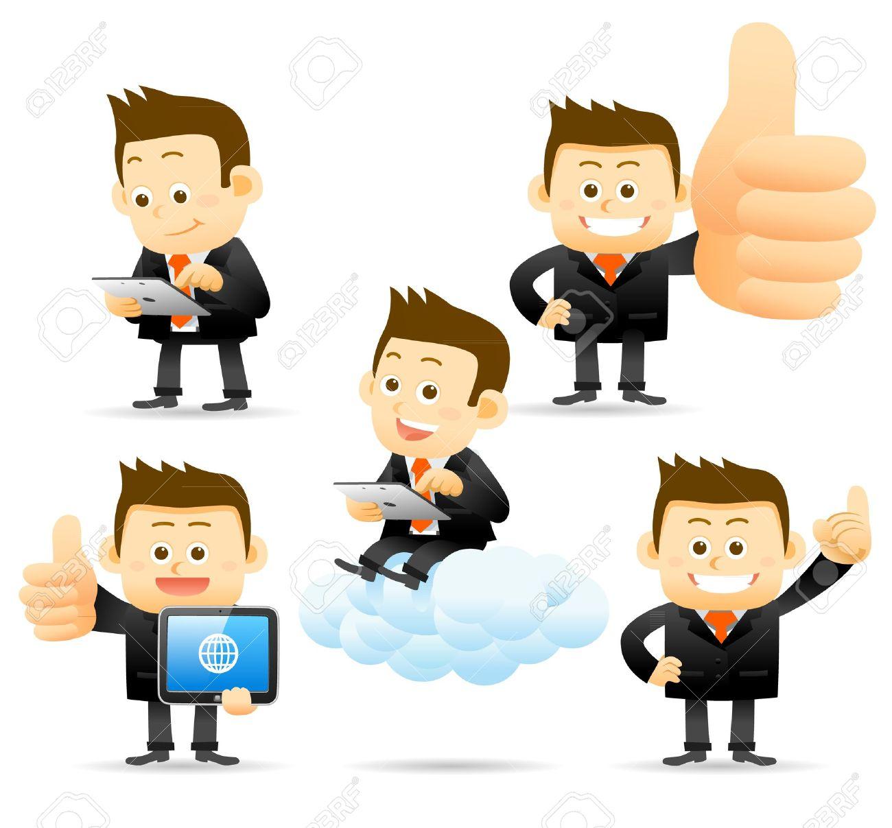 Elegant People Series - Business man ,Cloud computing concept - 13543863