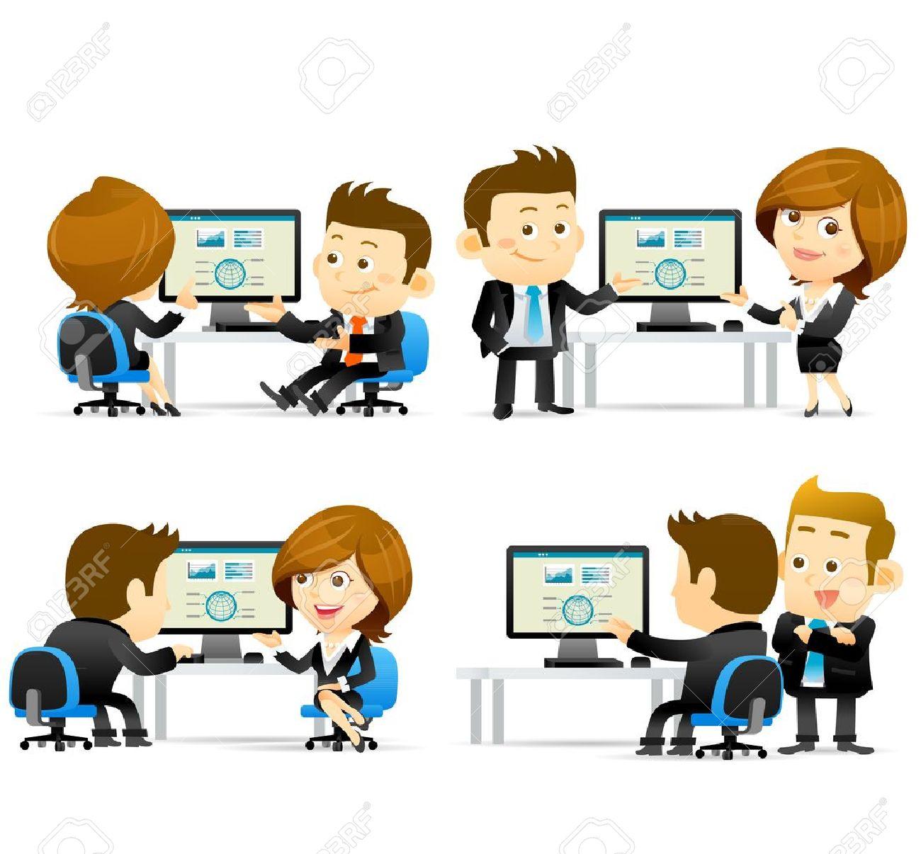 Elegant People Series -Businesspeople at computer - 16856353