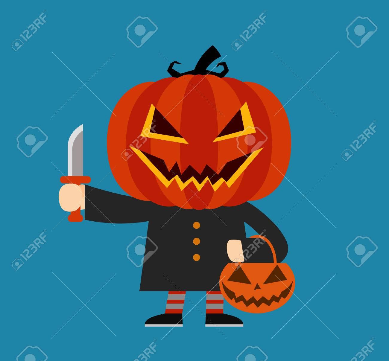 Zucche Di Halloween Cartoni Animati.Personaggio Dei Cartoni Animati Di Zucca Costume Di Halloween