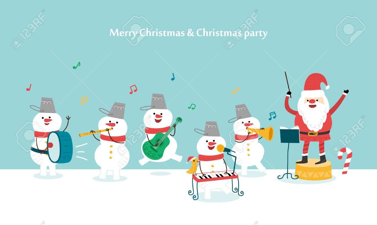 adce7ff97e01 Banque d images - Bonne fête de Noël. Père Noël et bonhomme de neige.  Illustration vectorielle