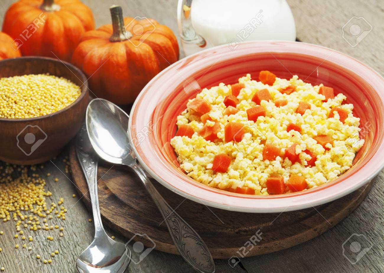 Pumpkin porridge with millet on milk - a useful dish