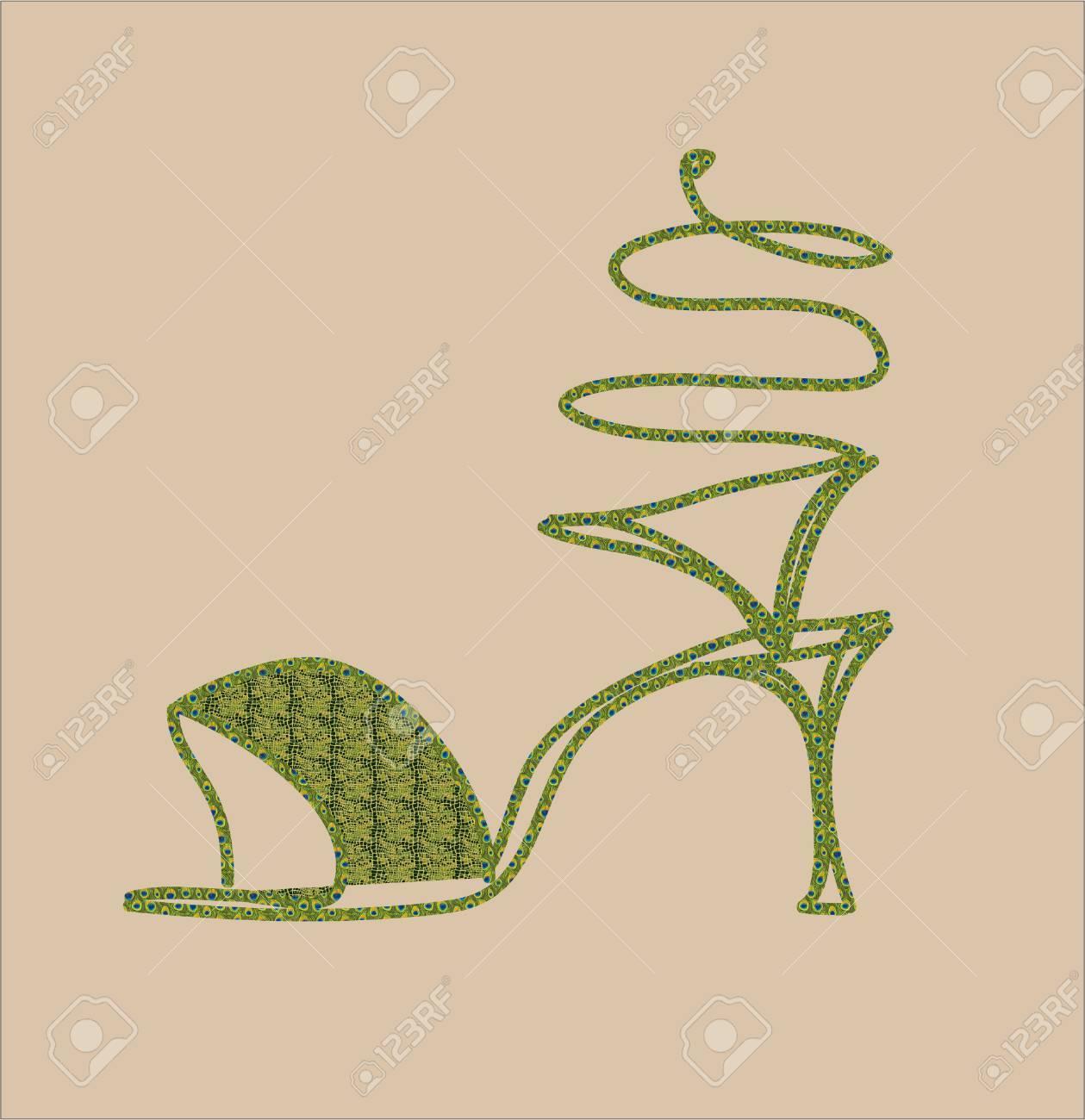 De À Clip Serpentine Talons Hauts Des Sandales Verte Art Libres OPn0wNk8X