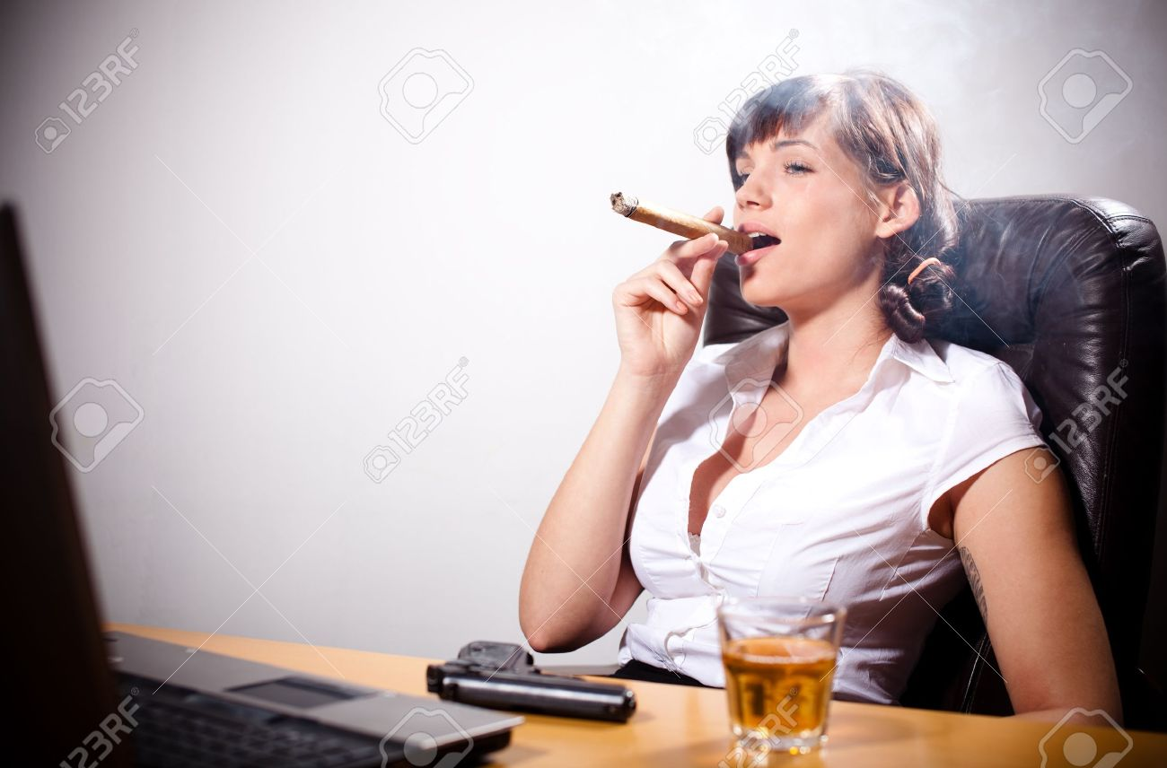 Young businesswoman relaxing in the office Stock Photo - 12163993