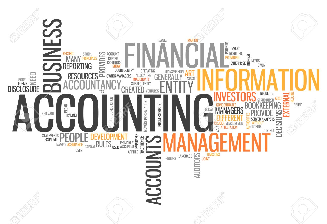 Word Cloud With Accounting Related Tags Stock Photo, Picture And ...