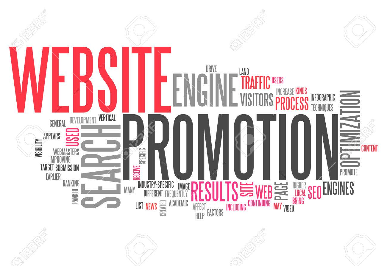 Word Cloud Website Promotion Stock Photo, Picture And Royalty Free ...