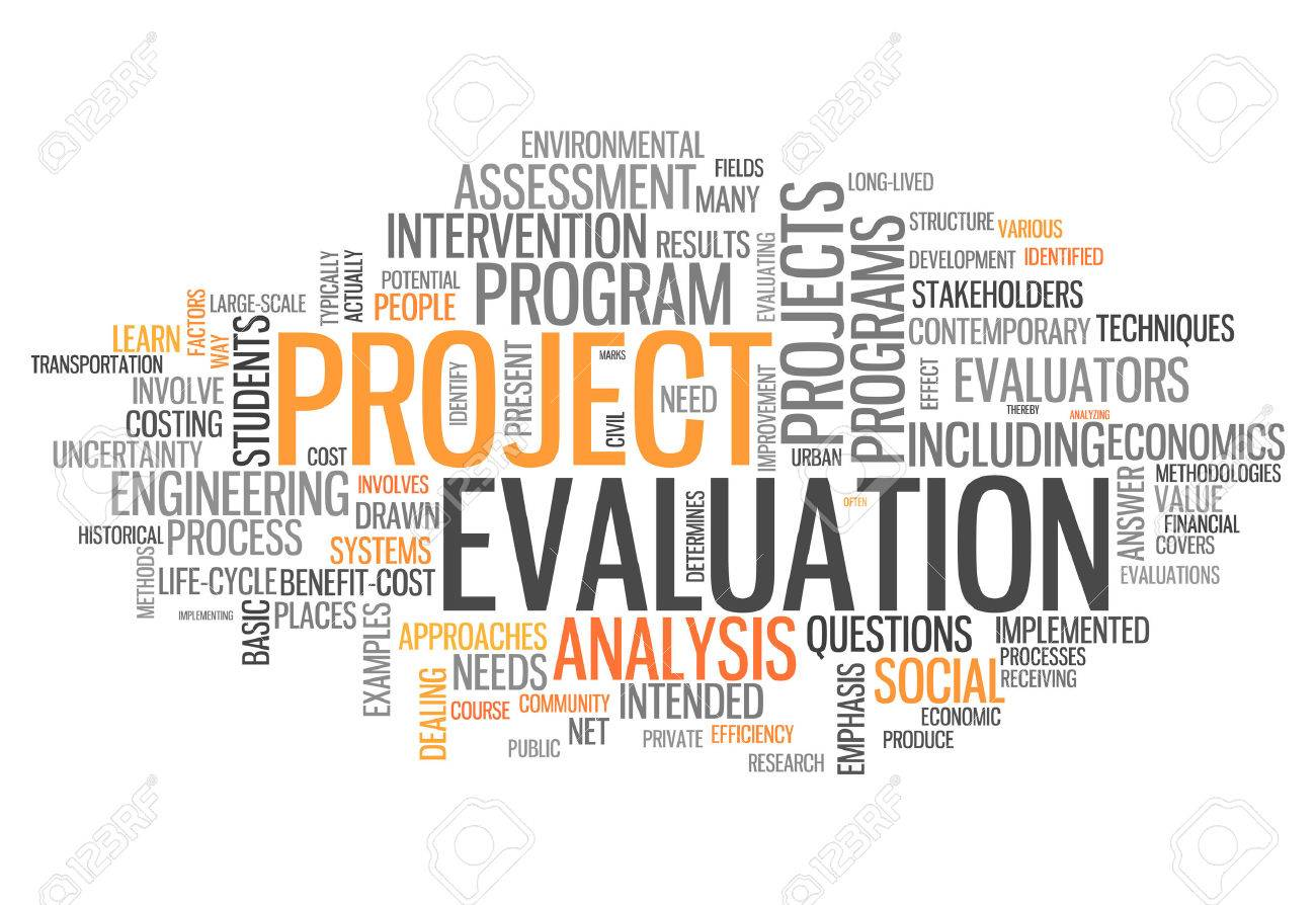 Project Evaluation | Word Cloud With Project Evaluation Related Tags Stock Photo Picture