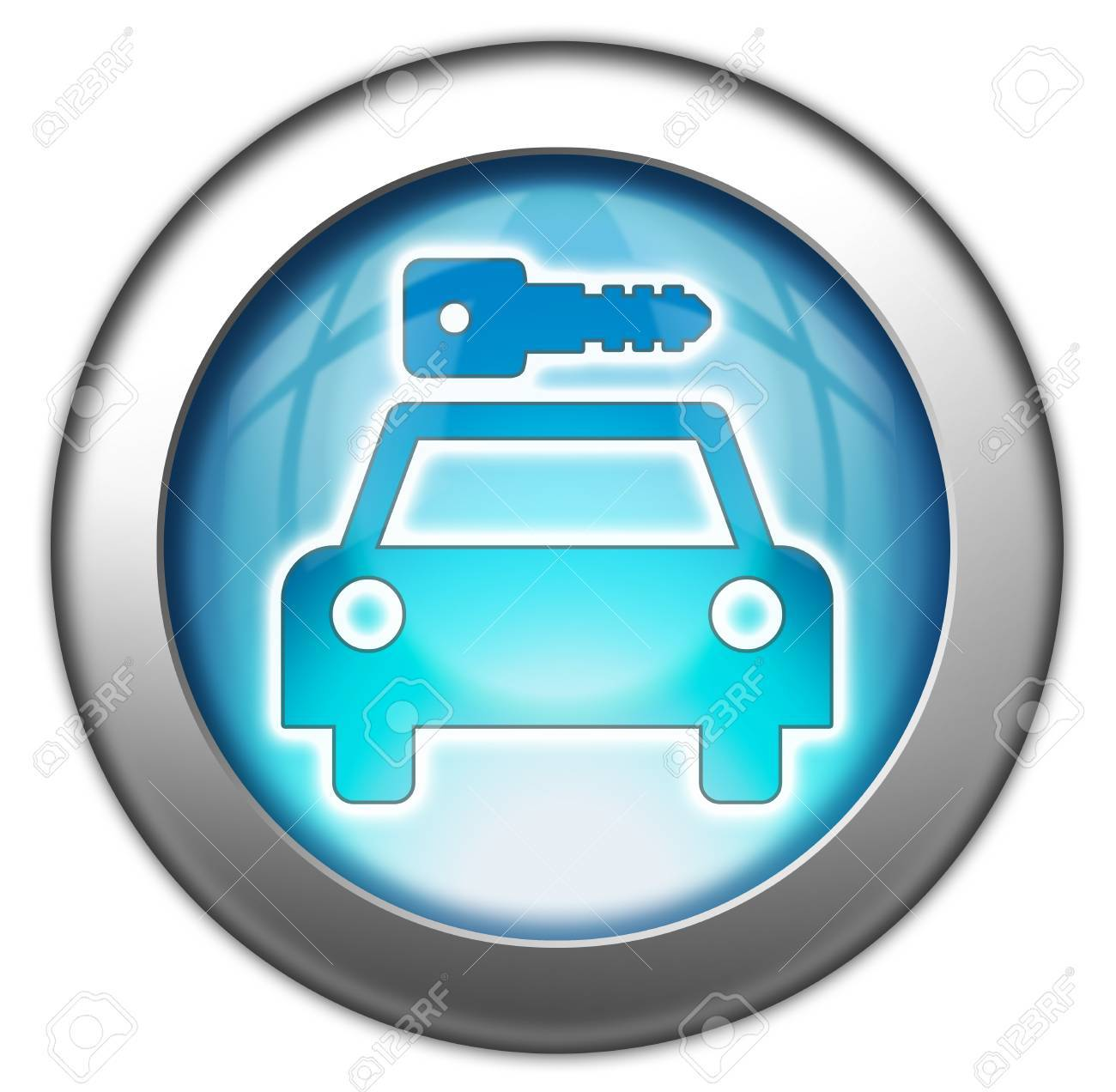 Icon, Button, Pictogram with Car Rental symbol Stock Photo - 27201101