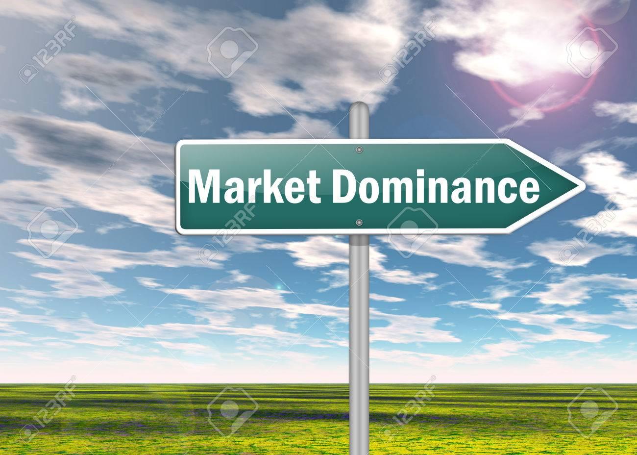 Highway Signpost Market Dominance Royalty Free Stock Photo - Image ...