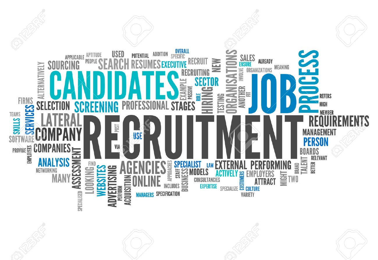 word cloud with recruitment related tags stock photo picture and