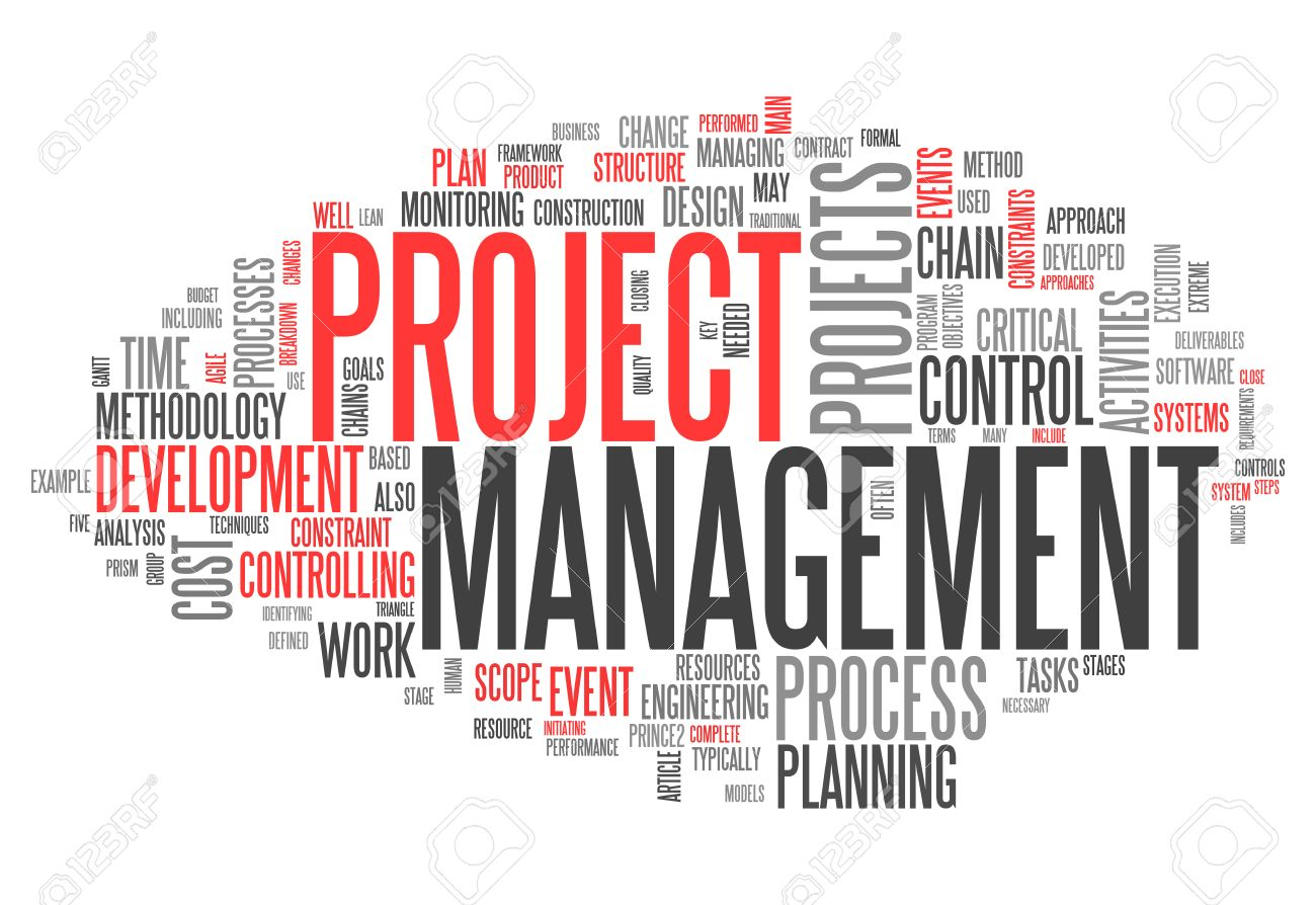 Word Cloud With Project Management Related Tags Stock Photo ...