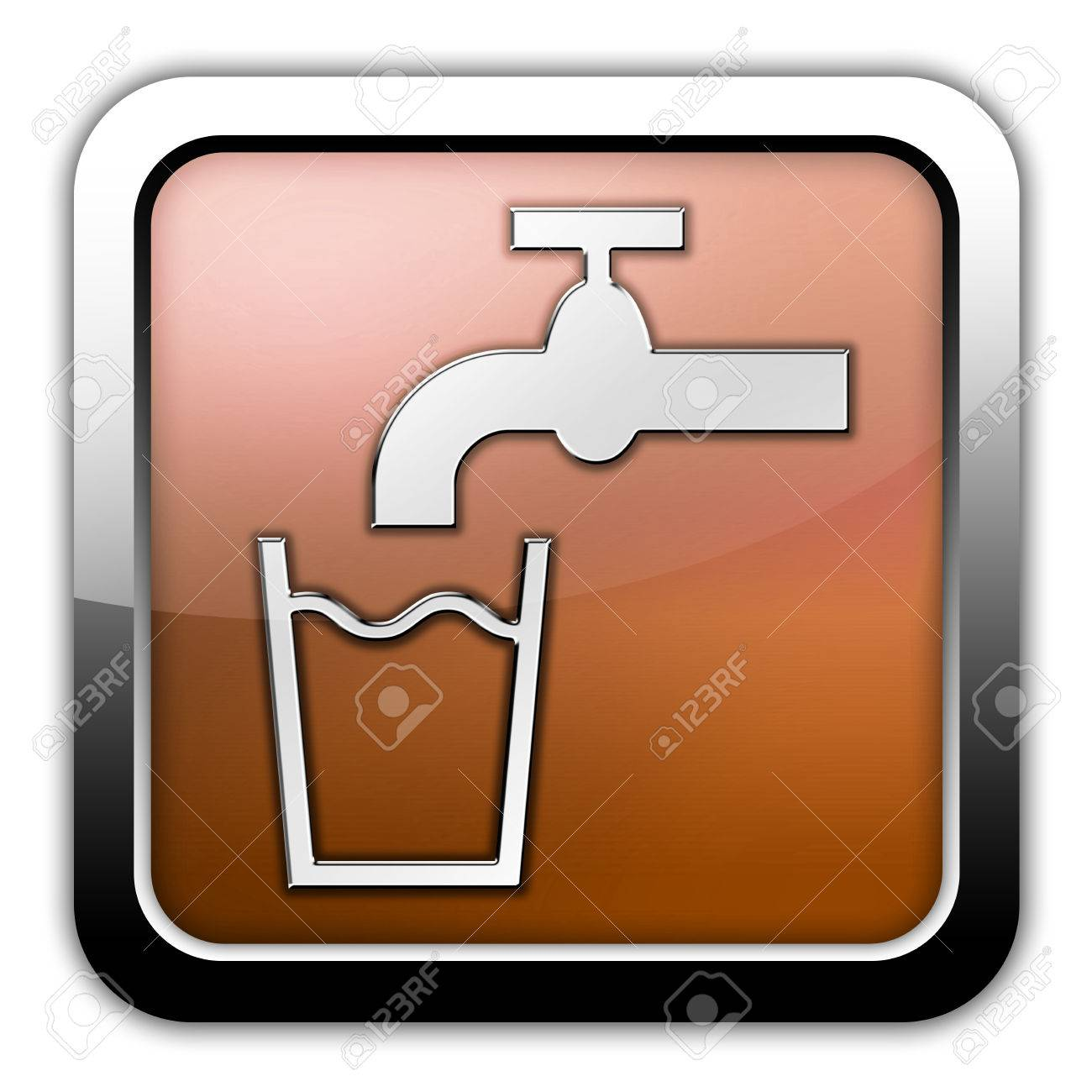 Icon Button Pictogram With Running Water Symbol Stock Photo