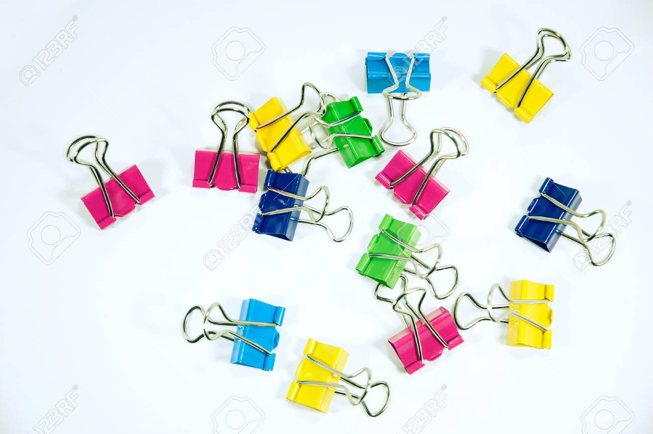 colorful clip on white background - 15490599
