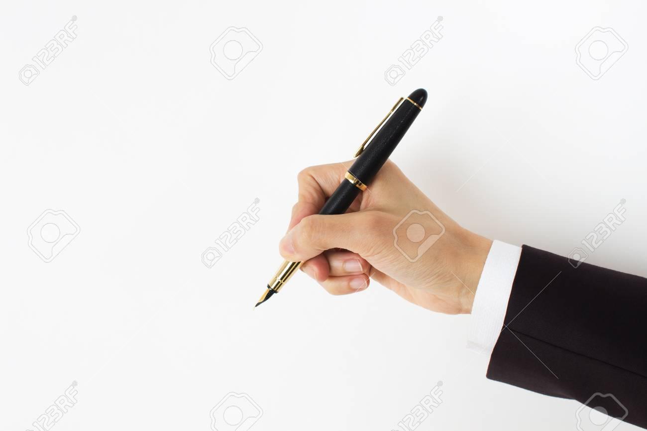 men holding pencil - 15725419