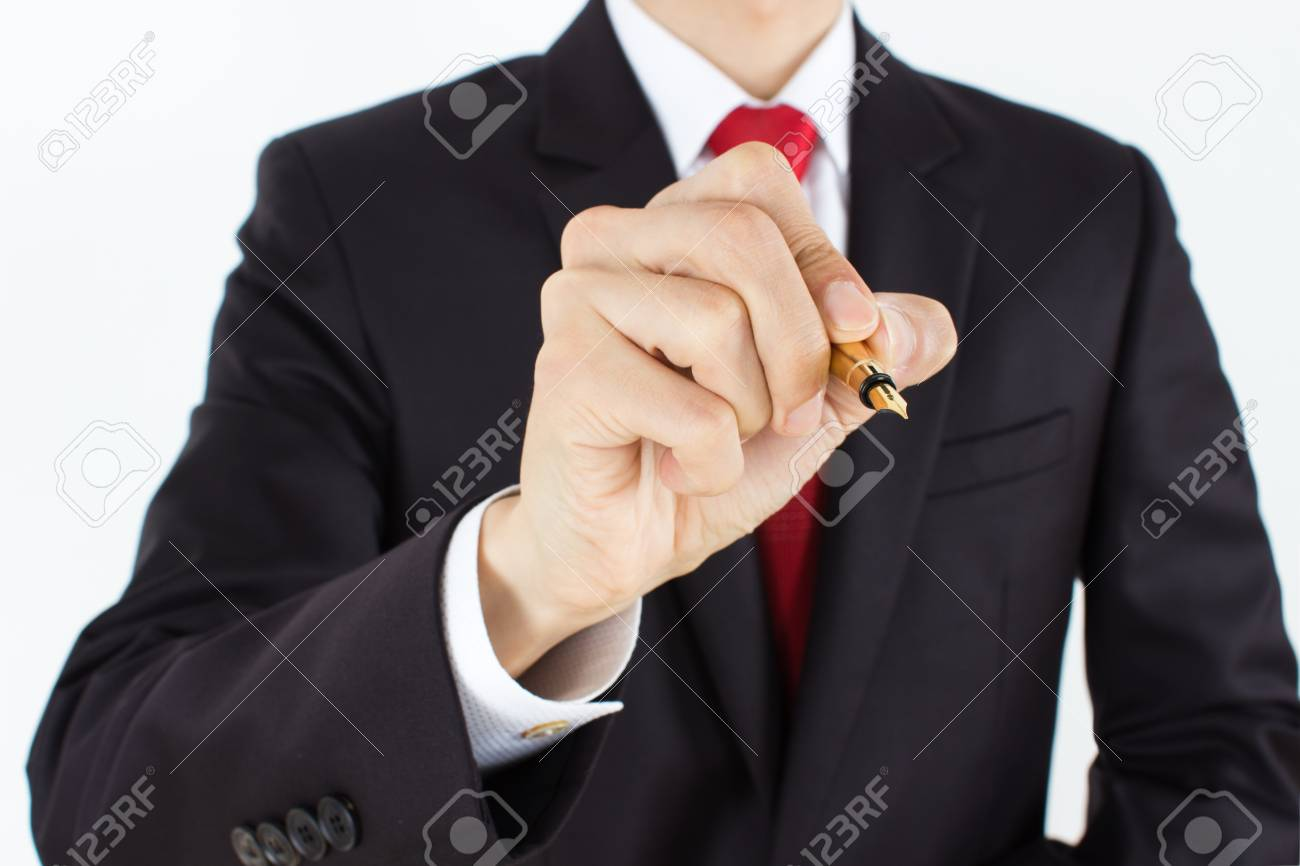 men holding pencil - 15725421