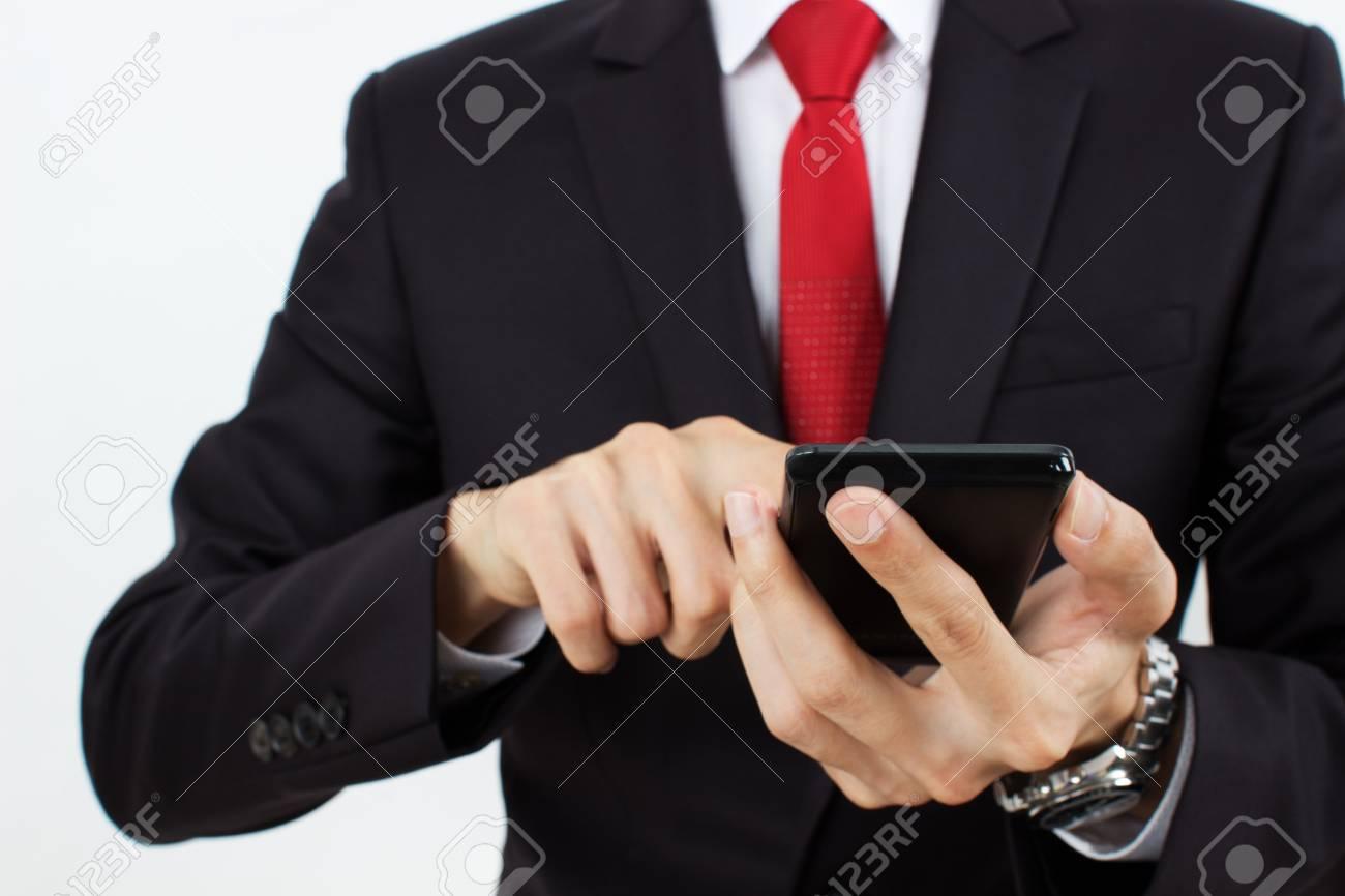 men holding mobile phone Stock Photo - 15906731