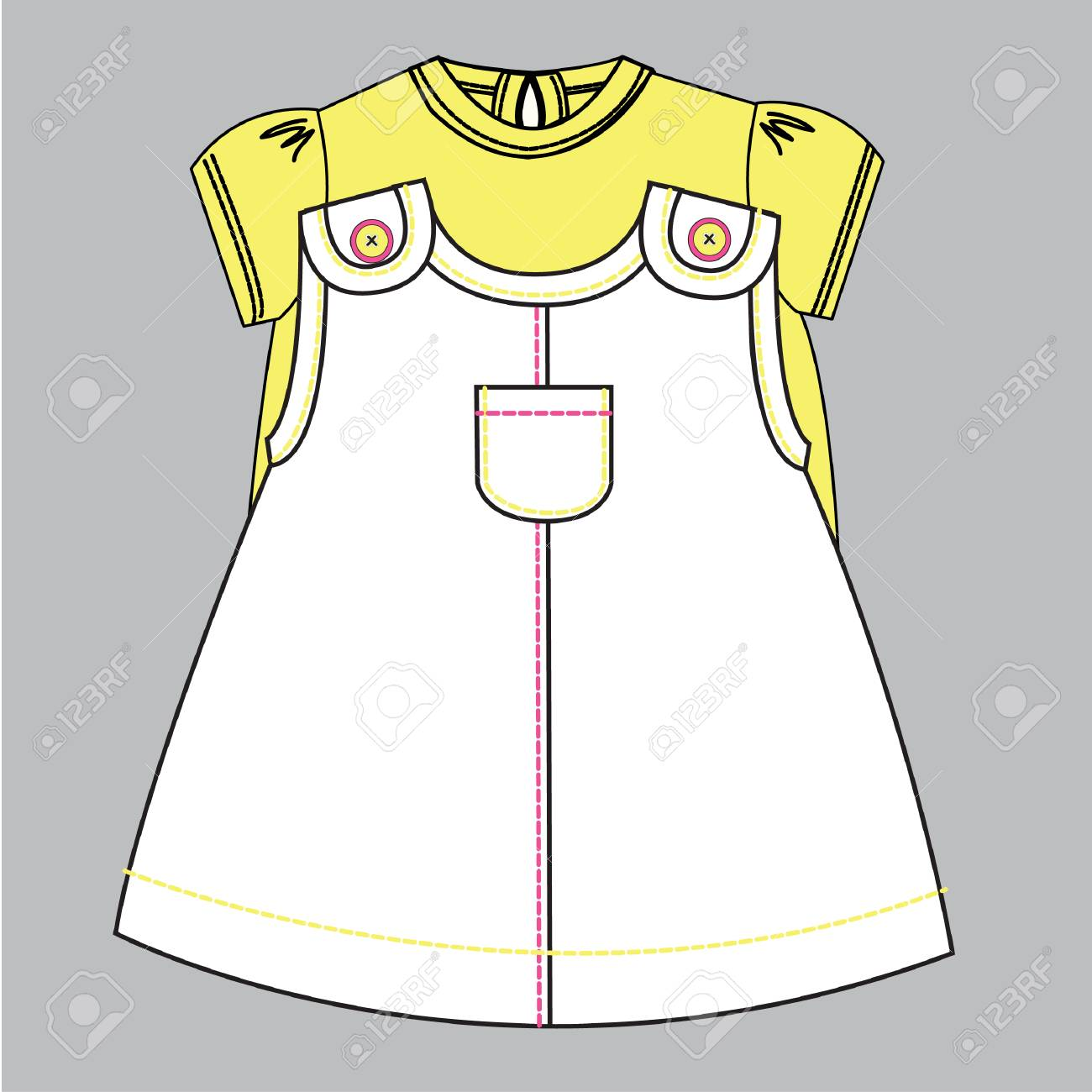 Baby Flat Sketch Template Isolated Royalty Free Cliparts, Vectors ...