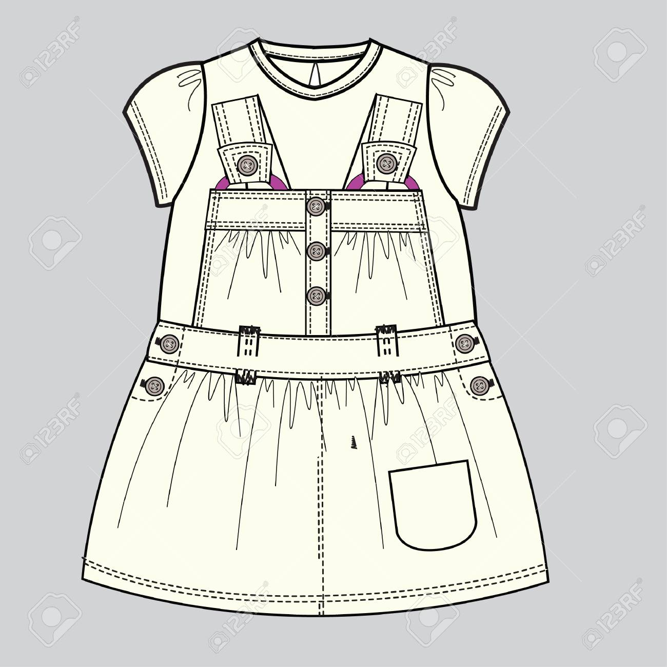 baby clothes flat sketch template isolated royalty free cliparts