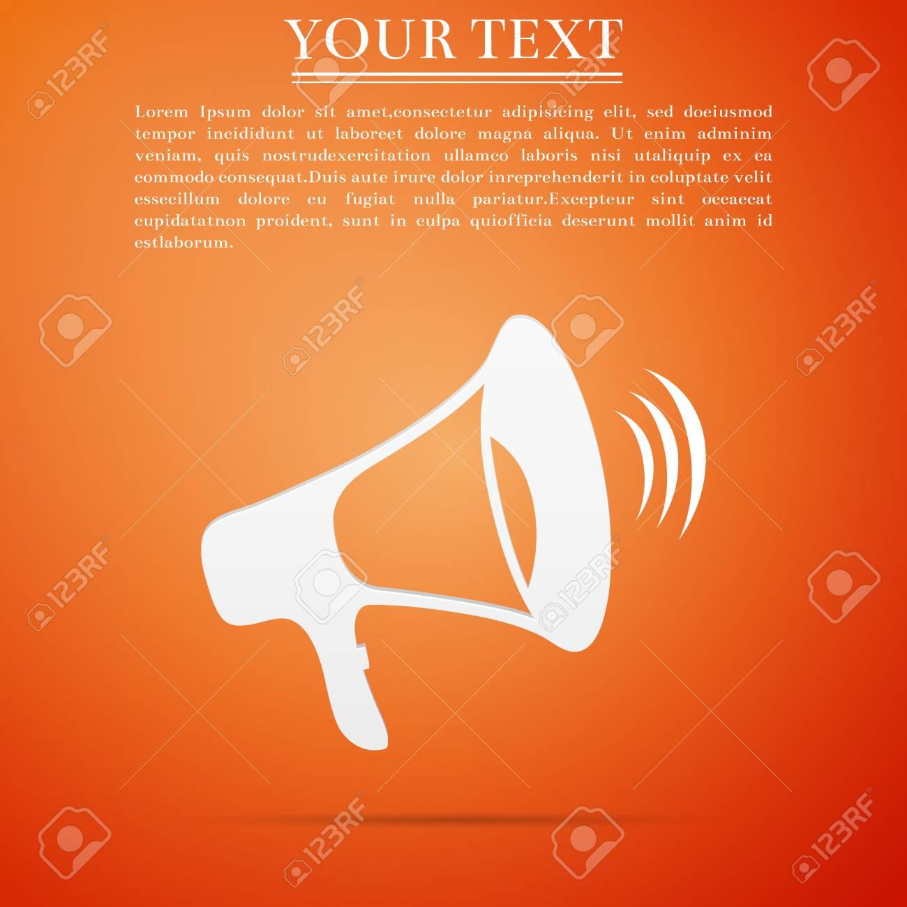 Megaphone icon isolated on orange background flat design vector megaphone icon isolated on orange background flat design vector illustration stock vector 88619503 publicscrutiny Gallery