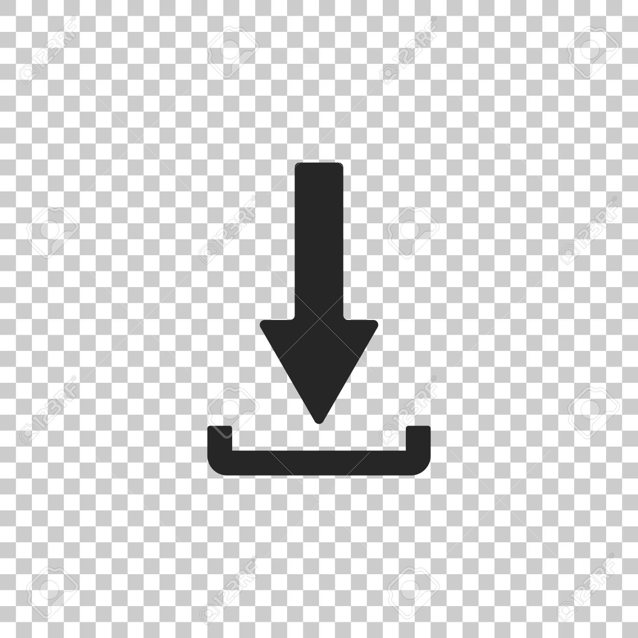 Download Icon Isolated On Transparent Background Upload Button