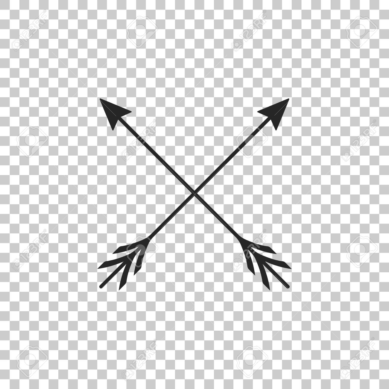 Crossed Arrows Icon Isolated On Transparent Background Flat Design Vector Illustration Royalty Free Cliparts Vectors And Stock Illustration Image 124993561