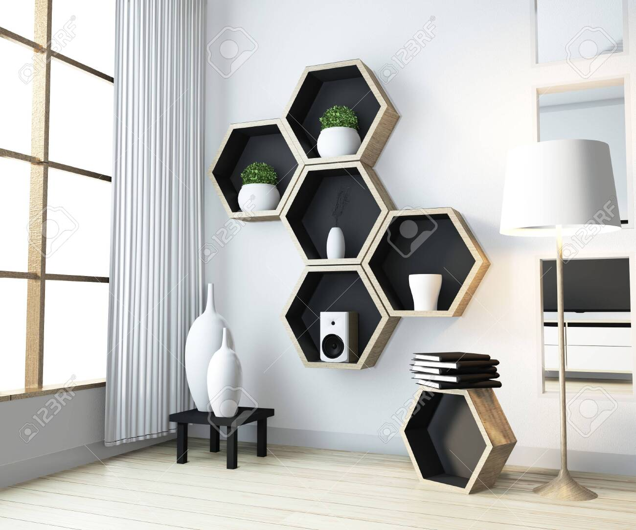 Living Room Wall Shelves Design
