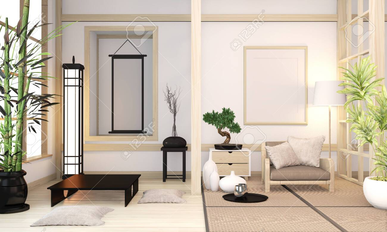 Modern Zen Mix Orininal Zen Style Wooden Room Interior With Tatami Stock Photo Picture And Royalty Free Image Image 130665602