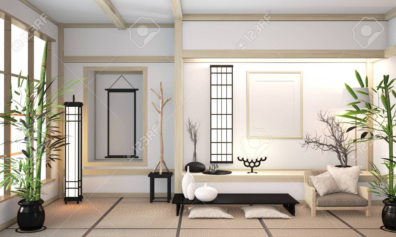 Modern Zen Mix Orininal Zen Style Wooden Room Interior With Tatami Stock Photo Picture And Royalty Free Image Image 130665605