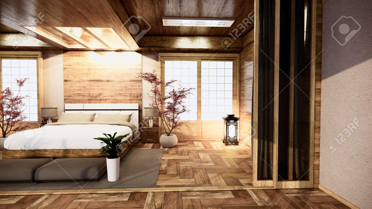bedroom japanese interior design.3D rendering - 147611520
