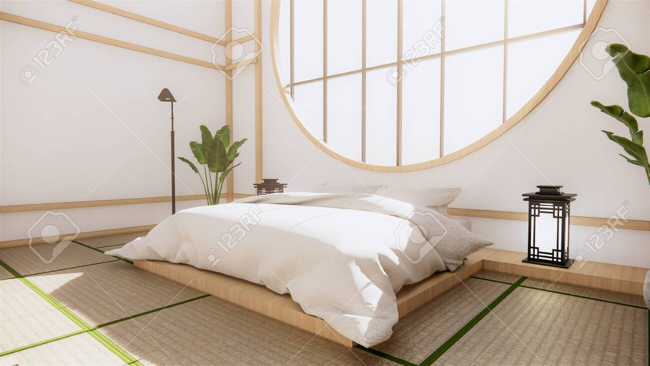 Multi Function Room Ideas Japanese Room Interior Design 3d Rendering Stock Photo Picture And Royalty Free Image Image 149679494