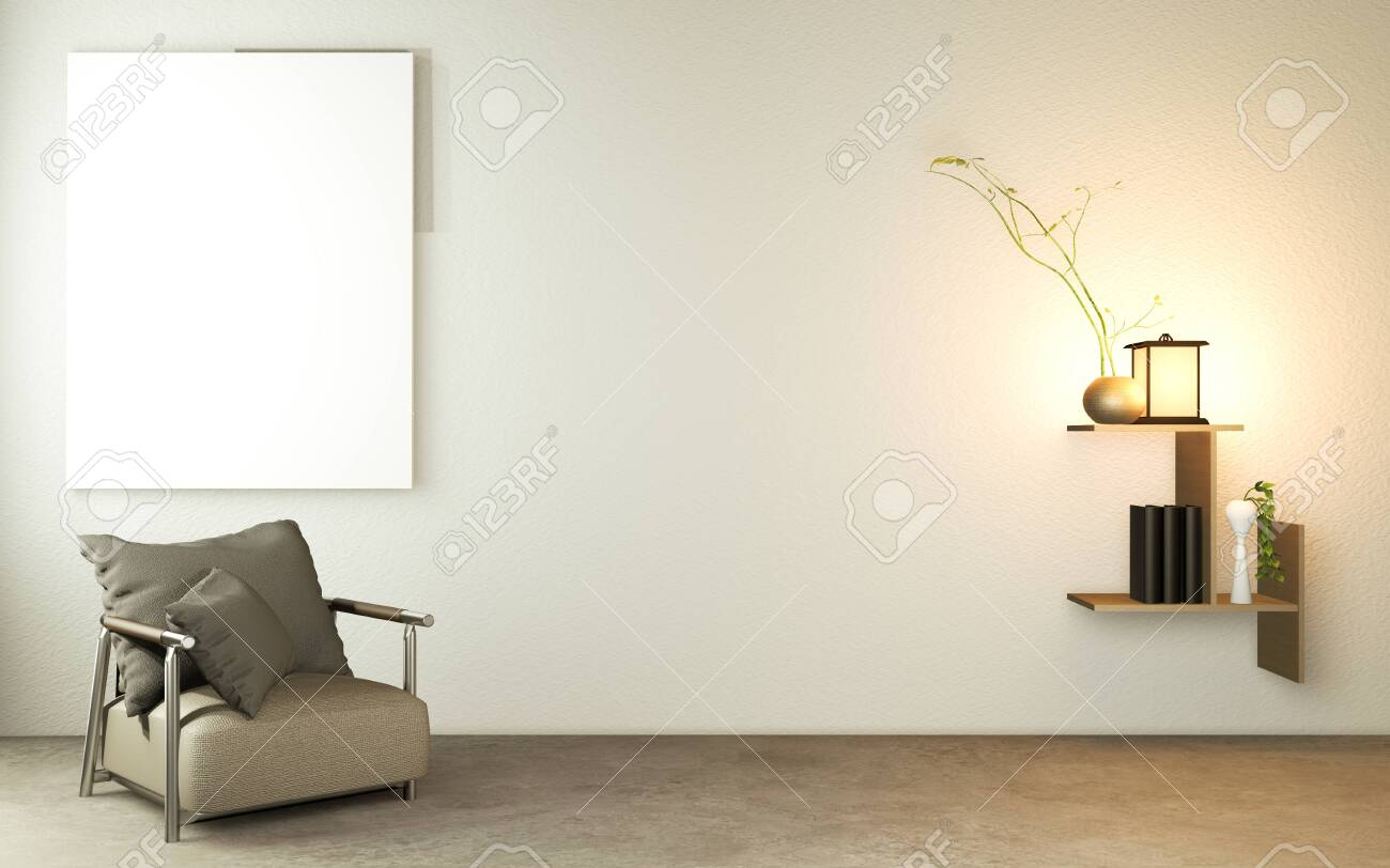 Picture of: Living Room Japanese Style With Wooden Table Lamps And Armchair Stock Photo Picture And Royalty Free Image Image 151370110