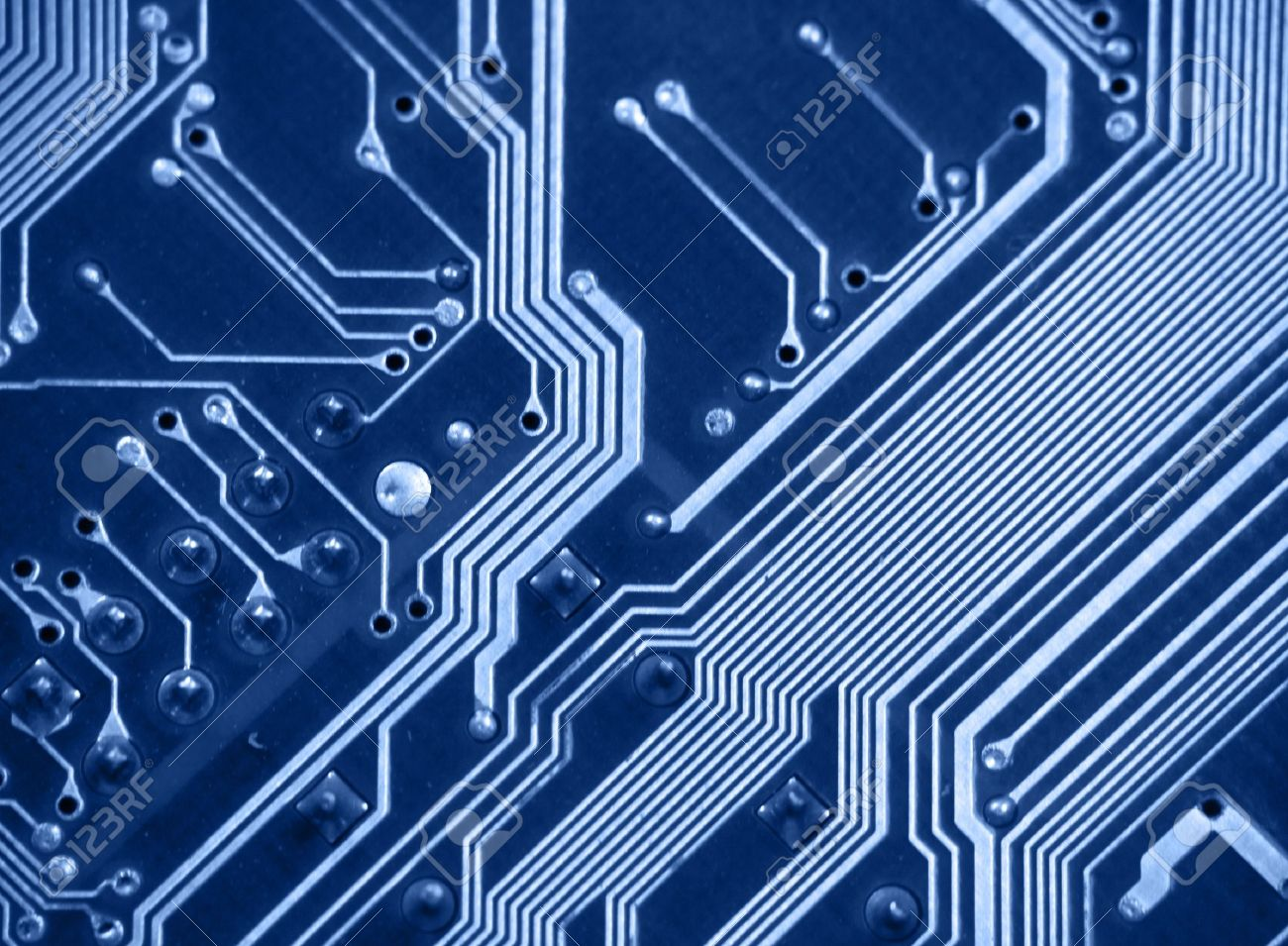 Detail Of Printed Circuit Board Old Motherboard Stock Photo Pcb 8591536