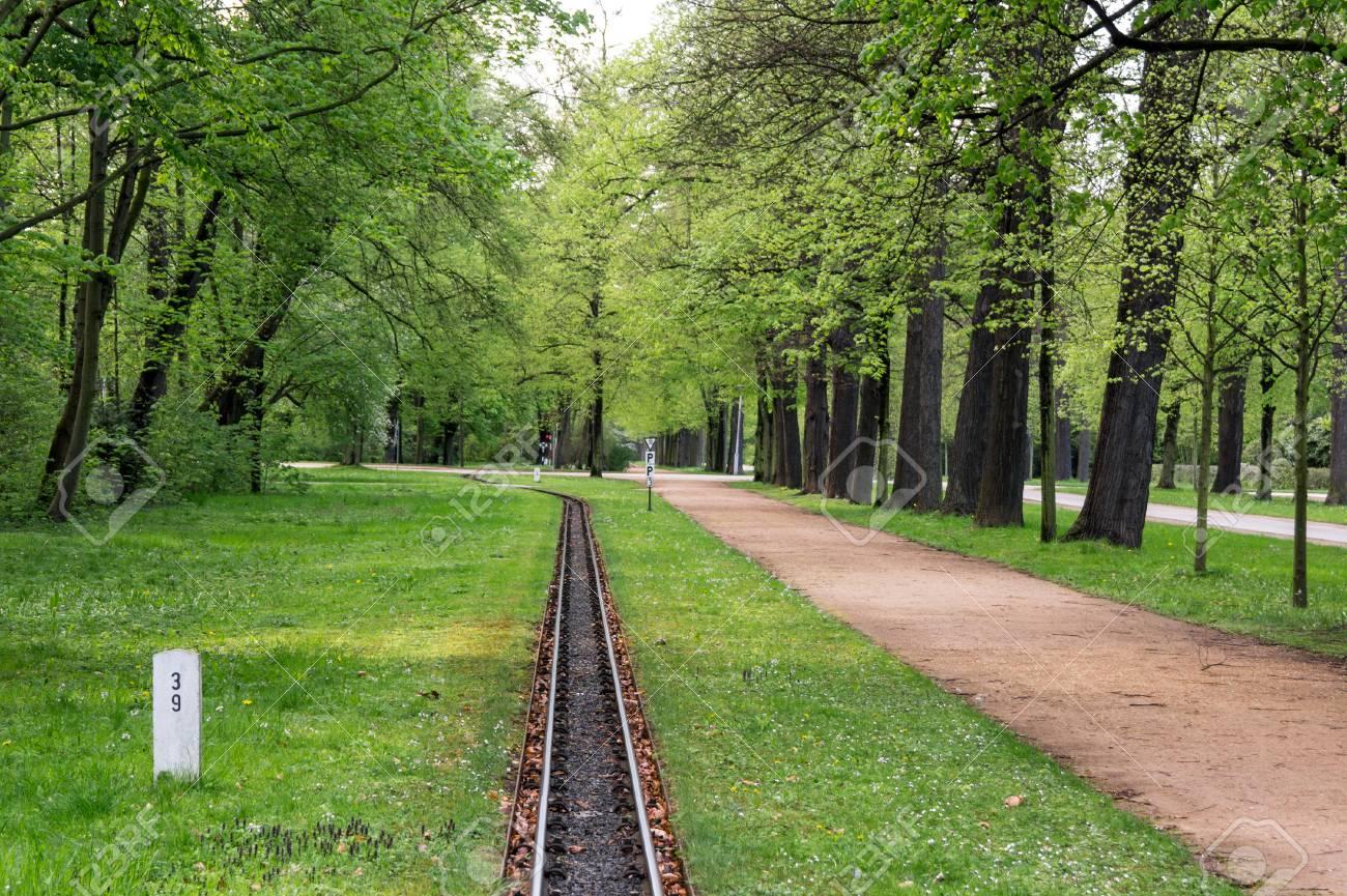 Light Railway In A Grosser Garten In Dresden Germany Stock Photo