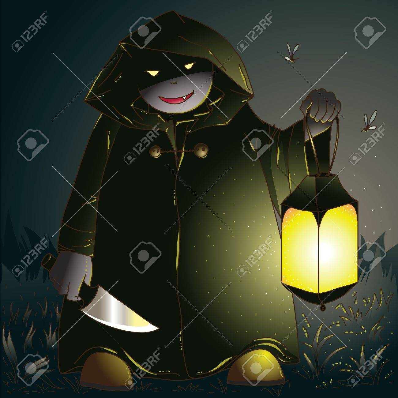 Something horrible is coming from fields Stock Vector - 10446207