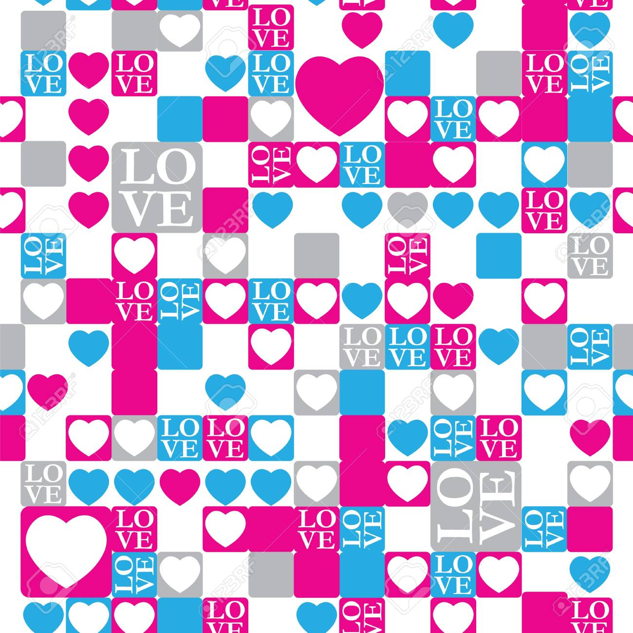 Love and heart concept background Stock Vector - 12054944