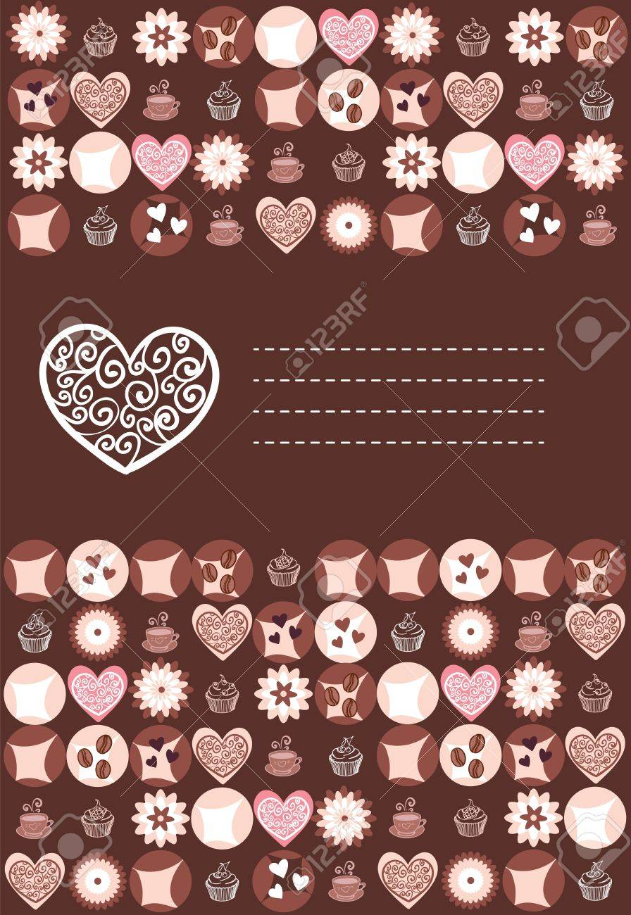 Sweet hearts and chocolate card with place Stock Vector - 13175263