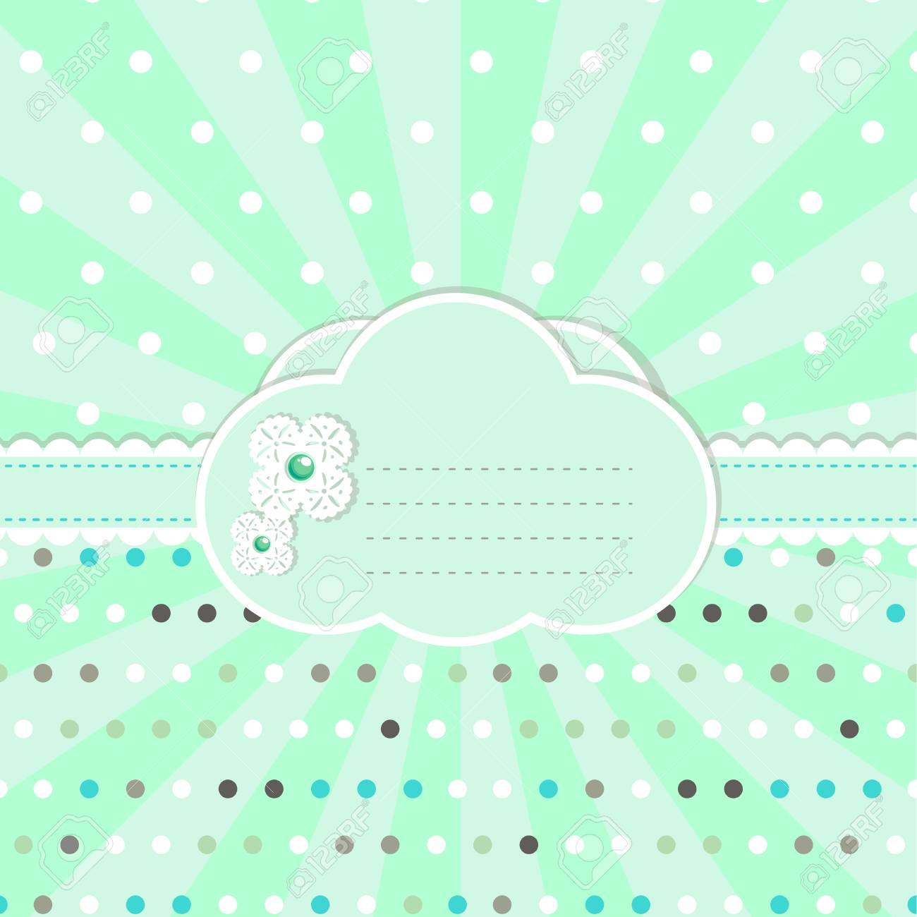 Pastel colored design for  greeting card Stock Vector - 13175255