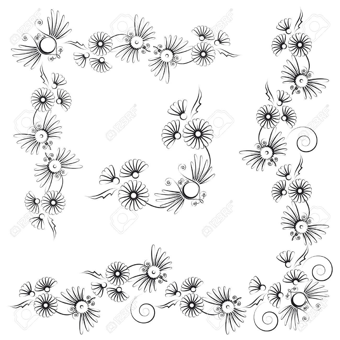floral design with flowers and insects Stock Vector - 14747943