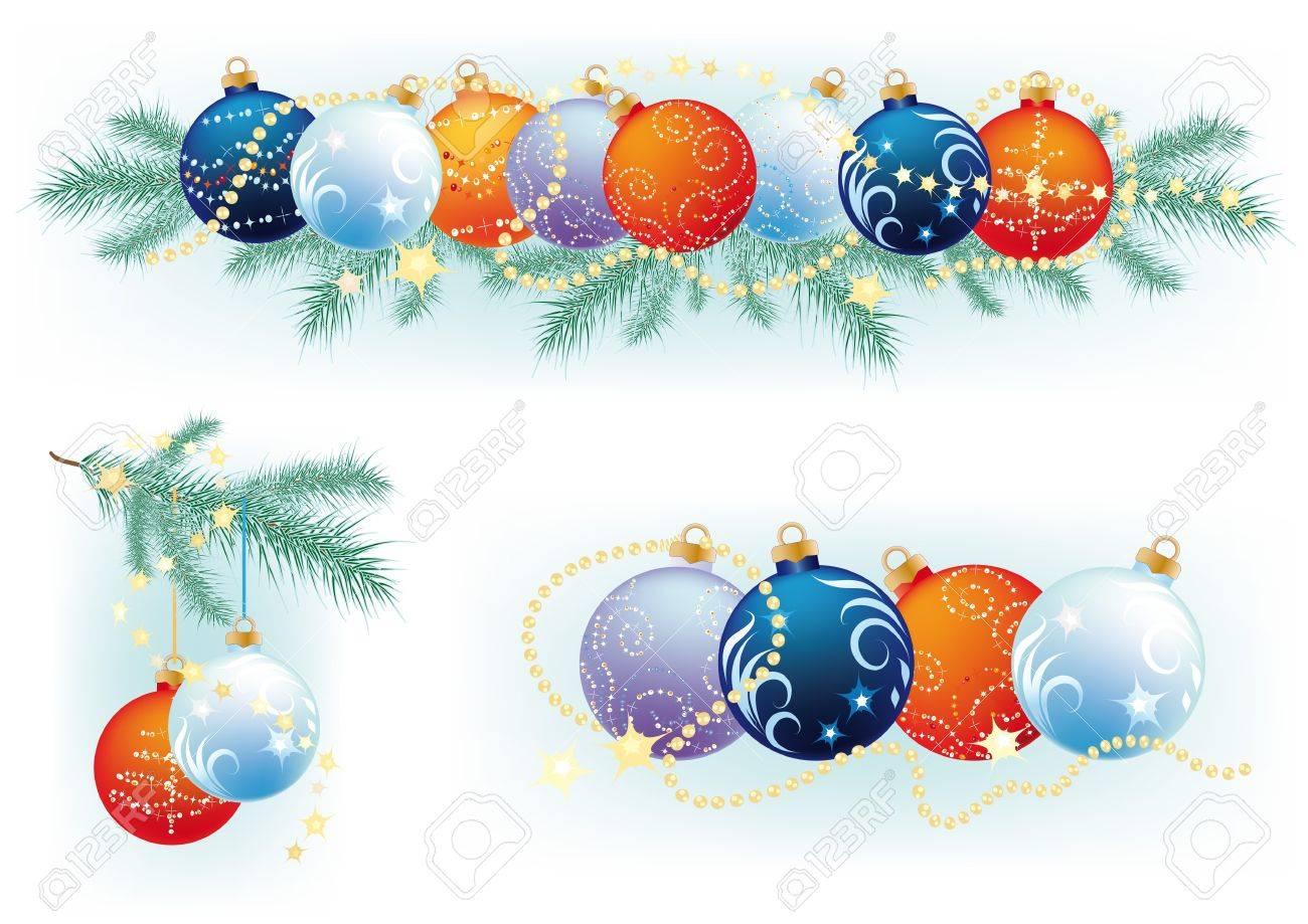 Kranz Aus Weihnachtskugeln.Stock Photo