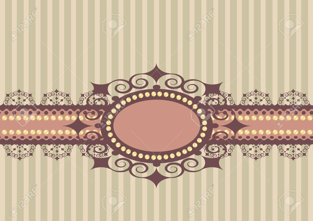 striped background with lace and decorations Stock Vector - 15856061