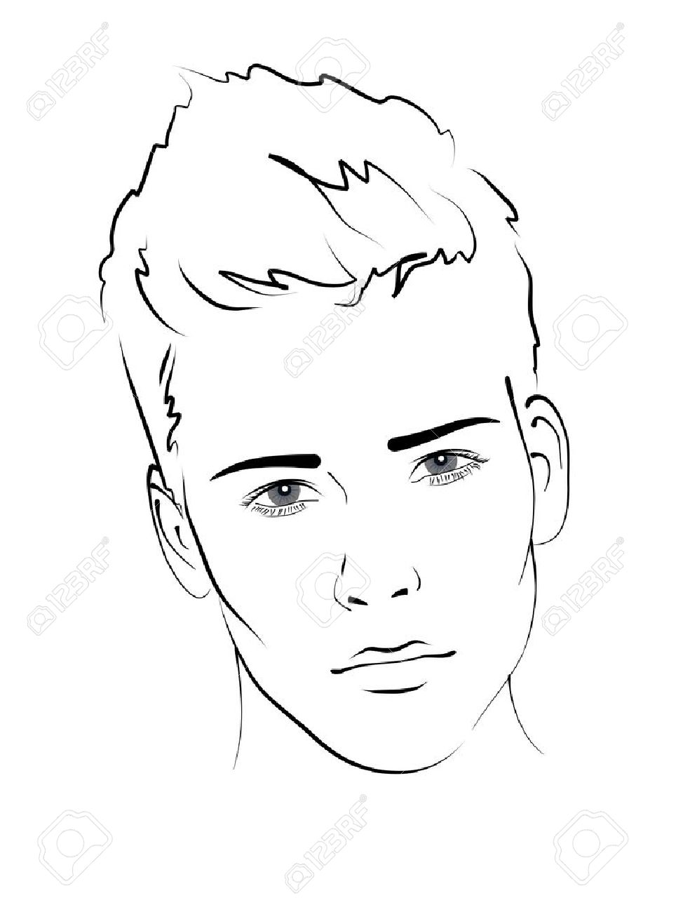 Sketch portrait of a handsome man stock vector 16535605